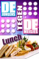 Jongens tegen de meisjes lunchquiz in Antwerpen